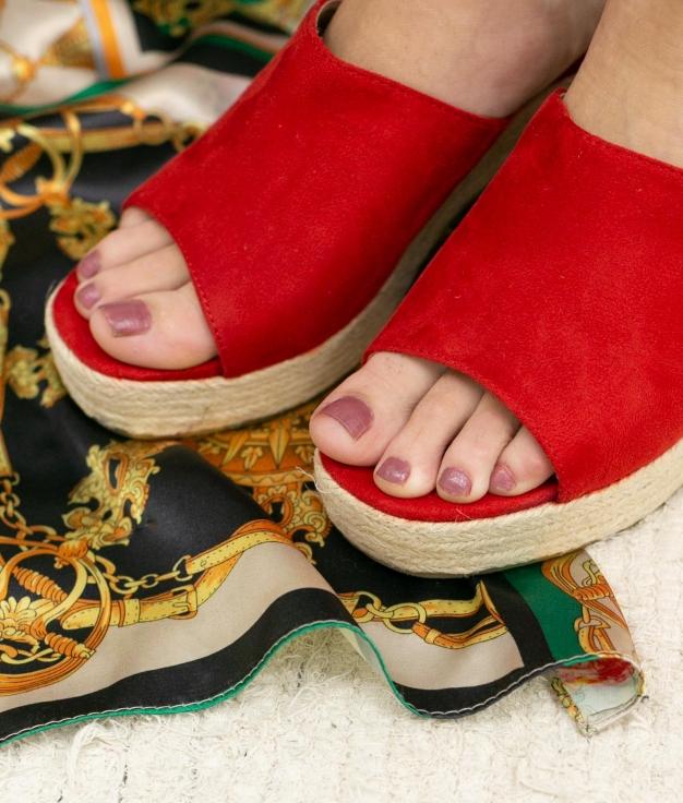 Sandalia de Tacón Gon - Rojo