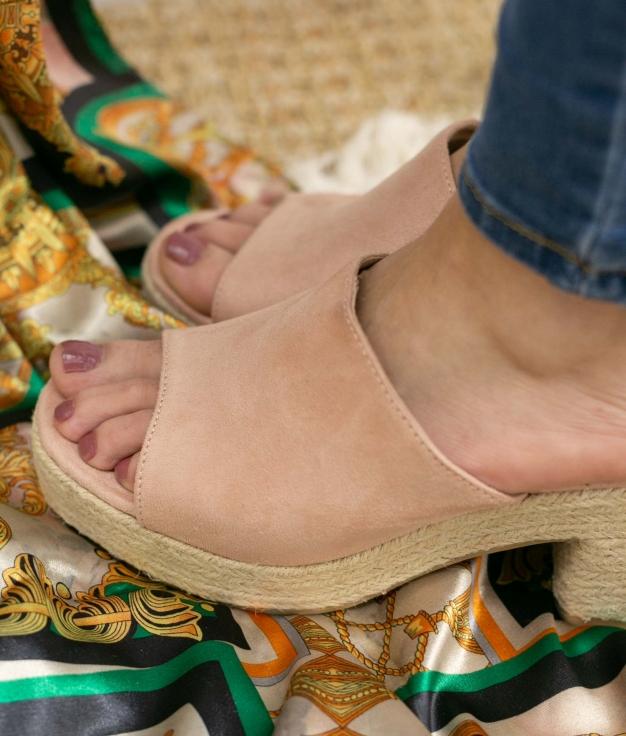 Sandalia de Tacón Gon - Rosa