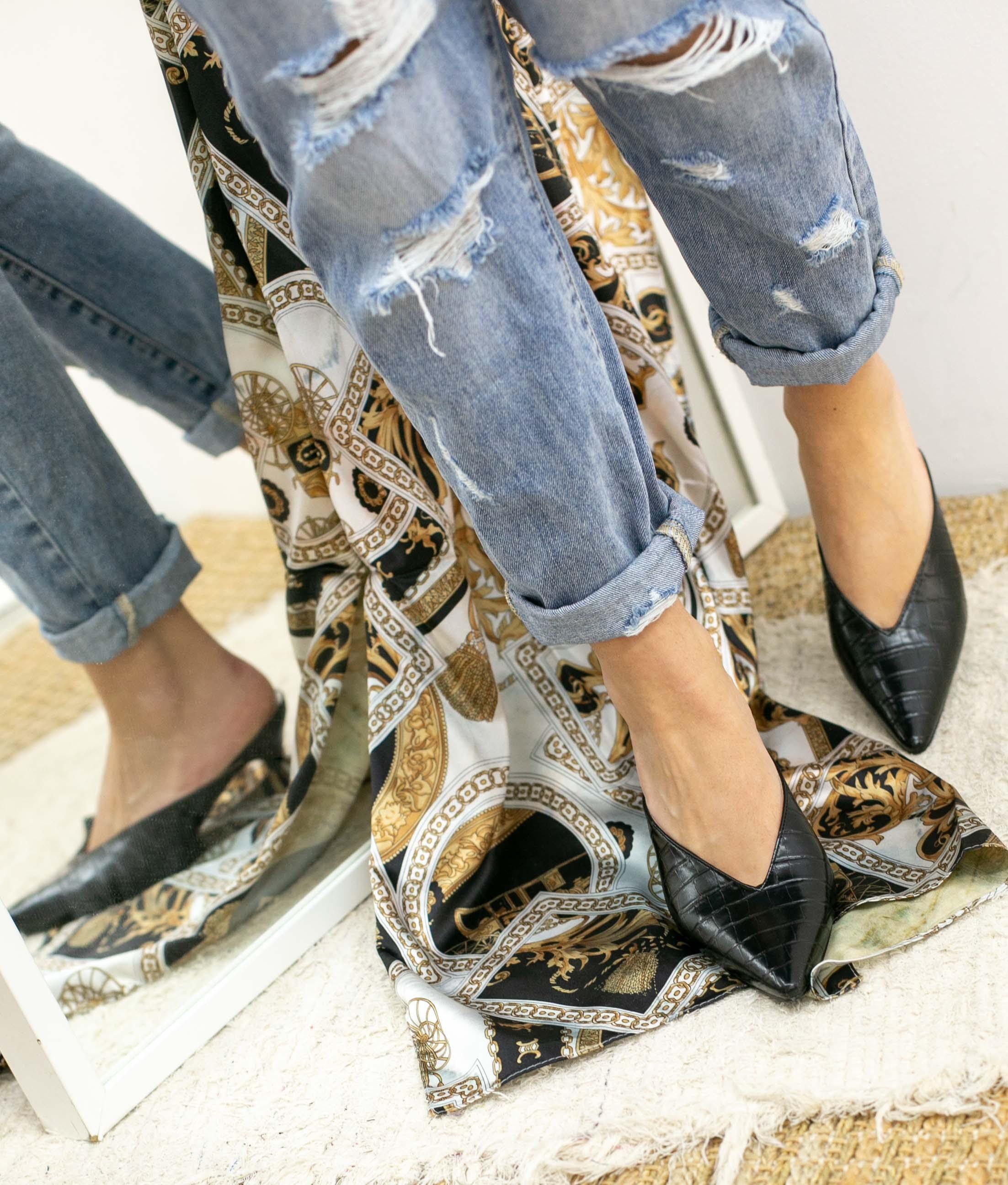 Zapato Mulé Vaner - Black