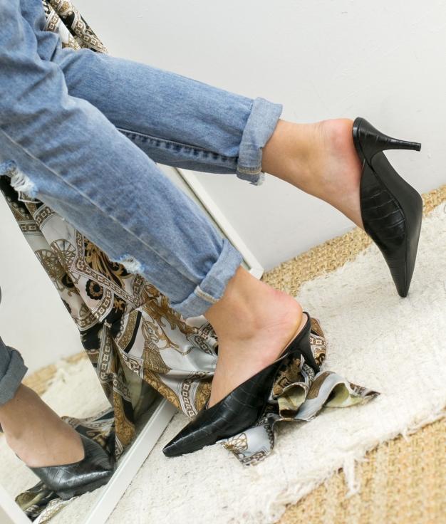 Zapato Mule Vaner - Noir
