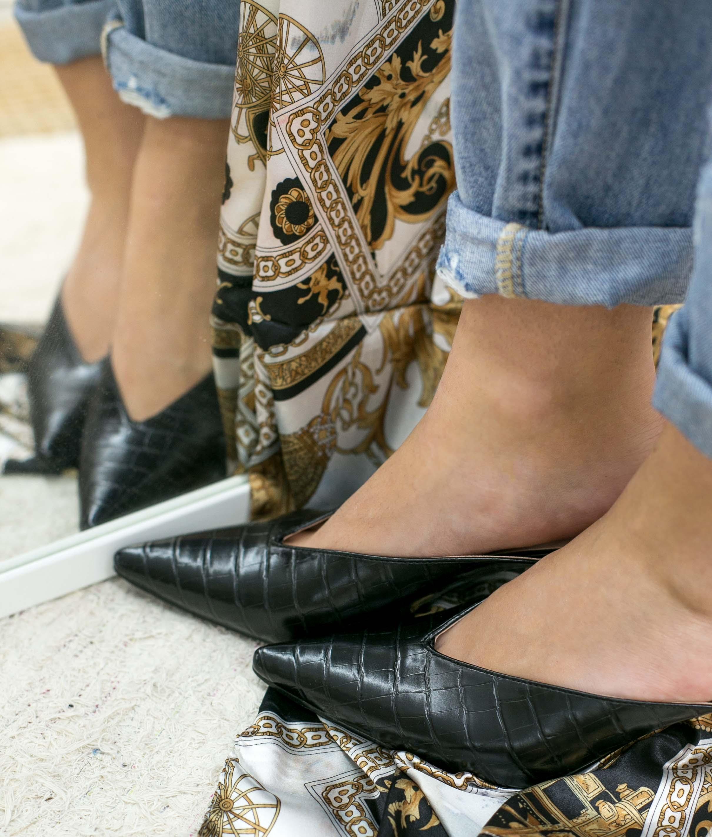 Zapato Mule Vaner - Preto