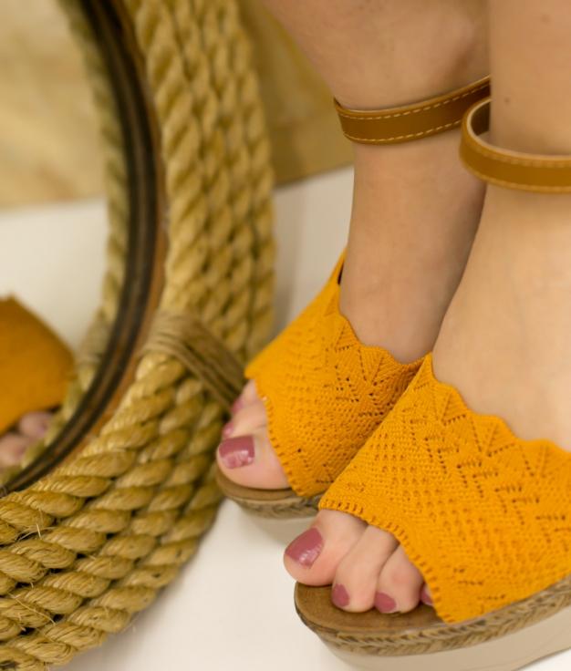 Wedge Heel Varina - Mustard