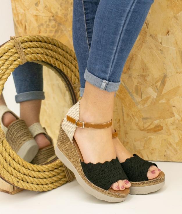 Wedge Heel Varina - Black