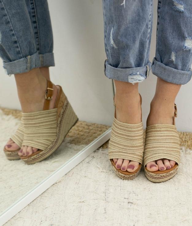Wedge Heel Dororo - Beige