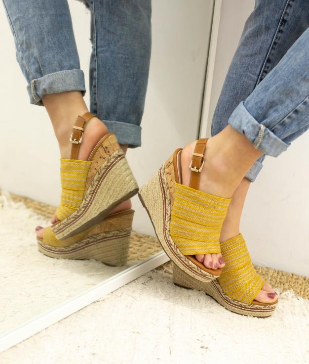 Wedge Heel Dororo - Yellow