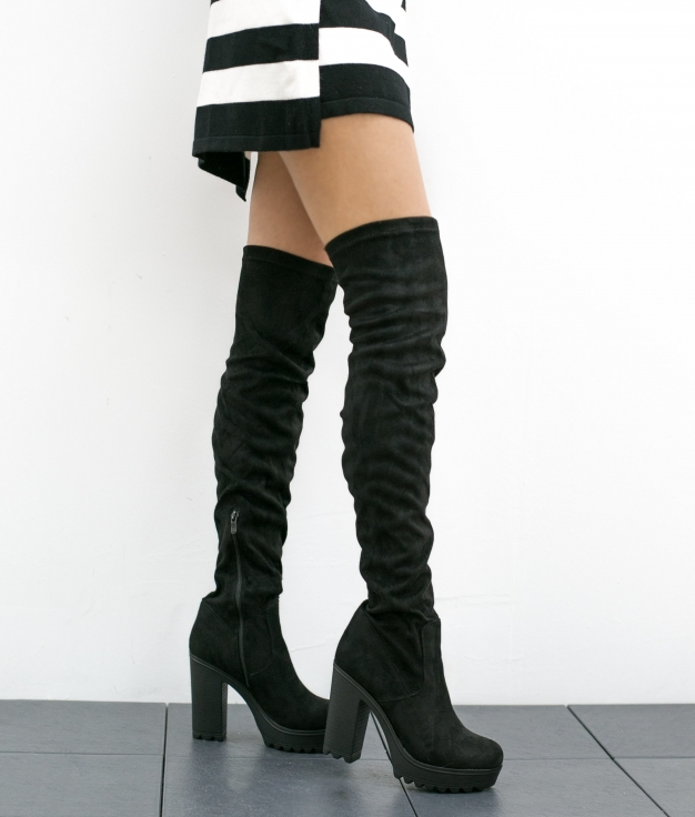 Knee-length Boot Taiju - Black