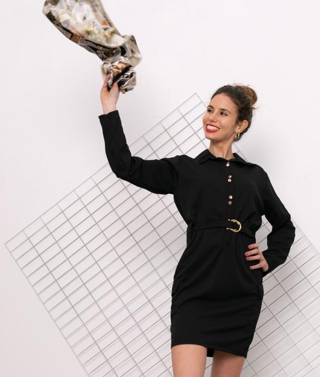 Vestido Vukon - Noir