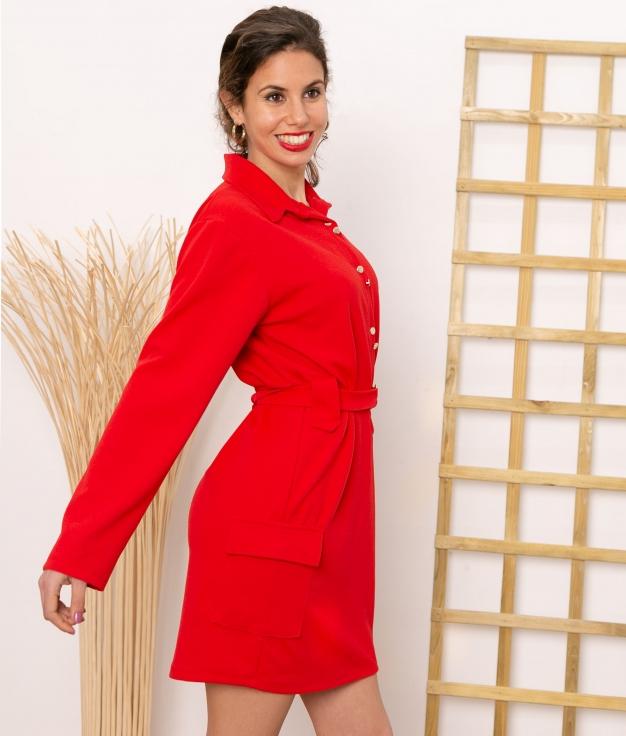 Vestido Vukon - Rouge