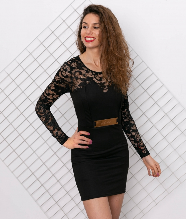Vestido Lelu - Negro