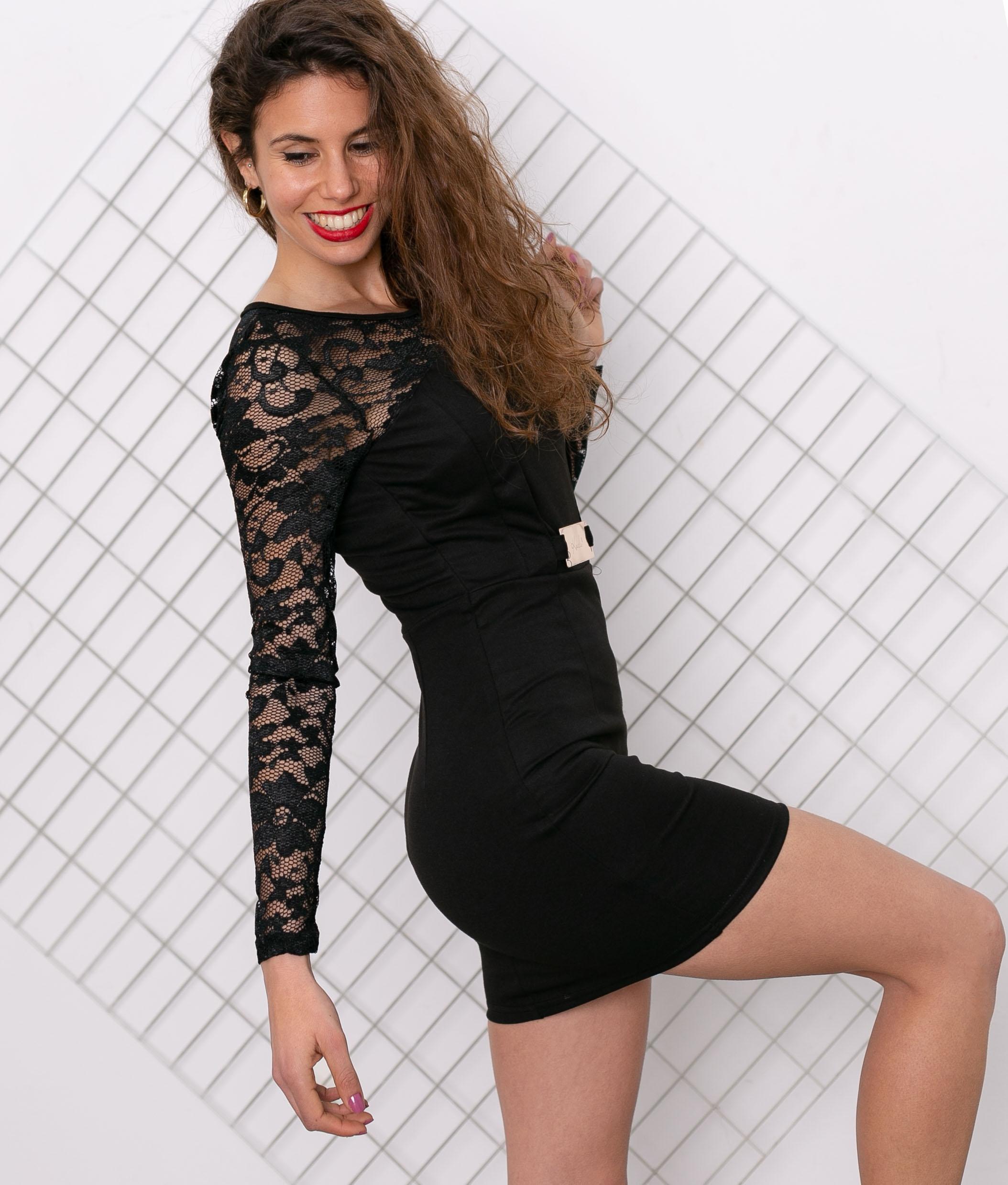 Vestido Lelu - Noir