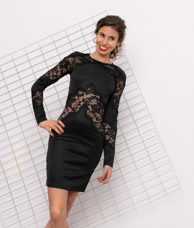 Vestido Vols - Negro