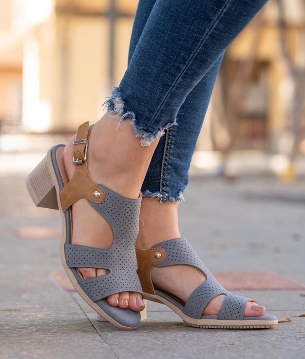 Sandália de Salto Dolin - Jeans
