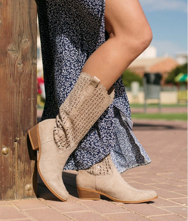 Knee-length Boot Galani - Beige