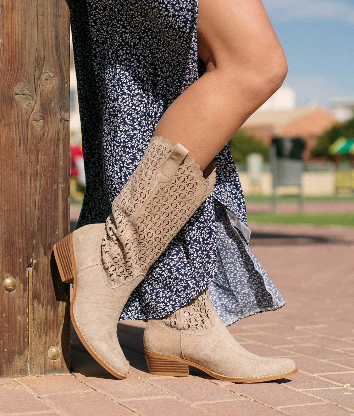 Knee-length Boot Galani - Beige