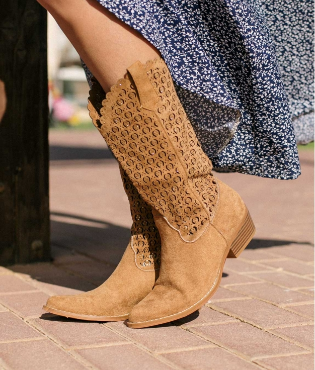 Knee-length Boot Galani - Camel