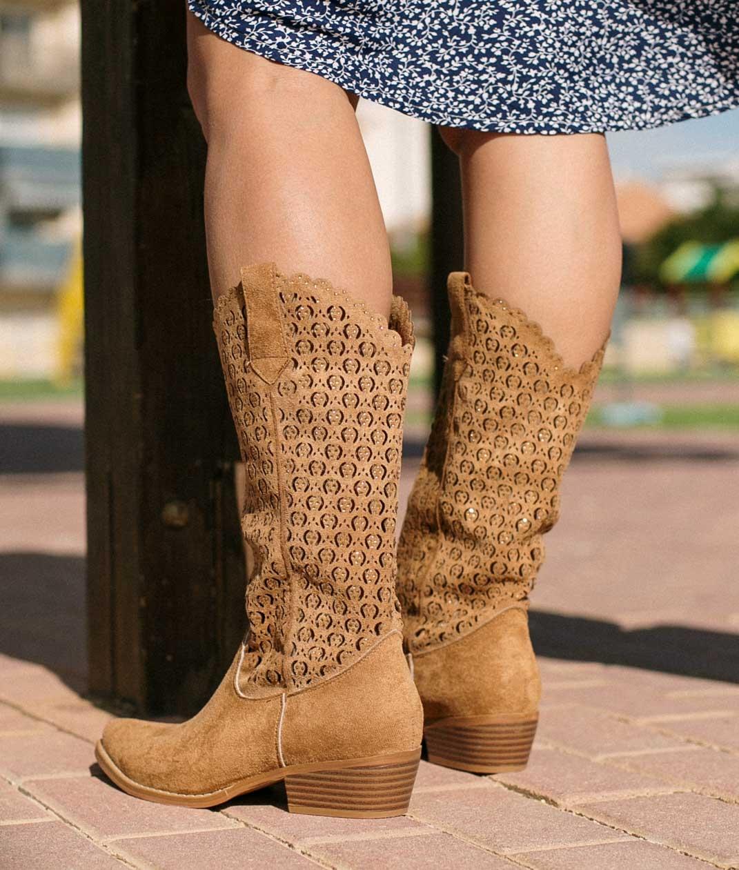 Knee-length Boot Galani - Camel