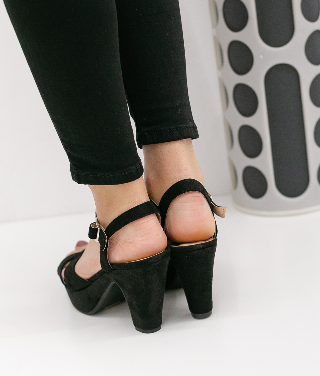 High Sandal Cande - Black