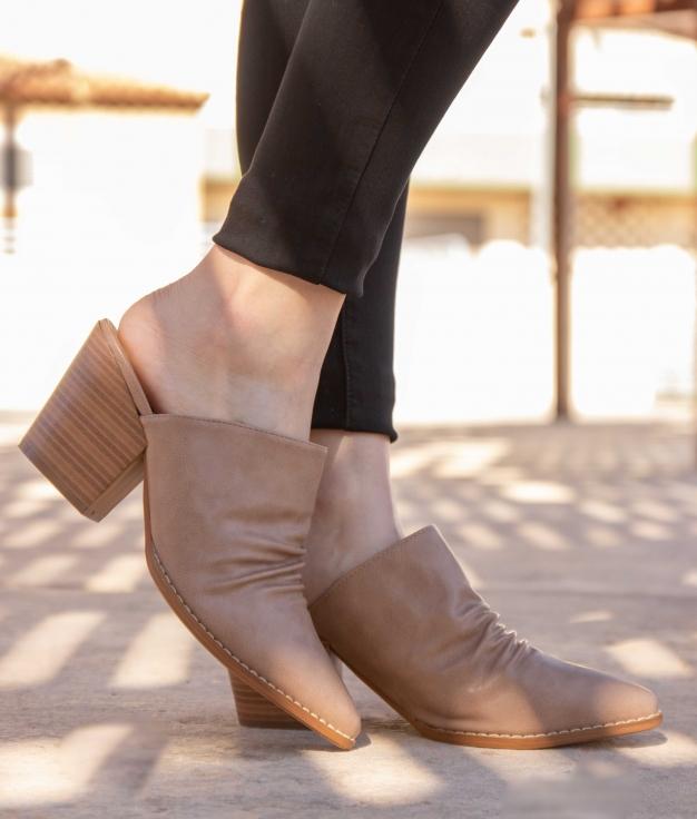 Zapato Mulé Karey - Beige