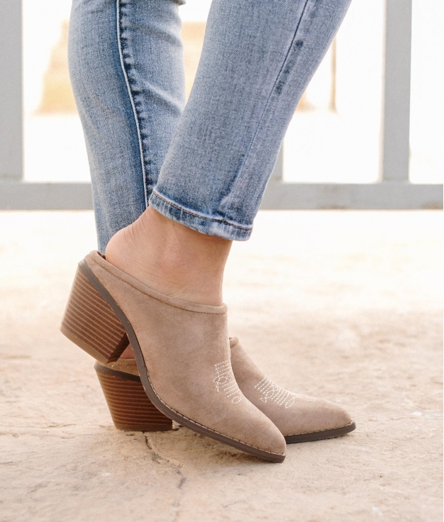 Zapato Mule Ulana - Beige