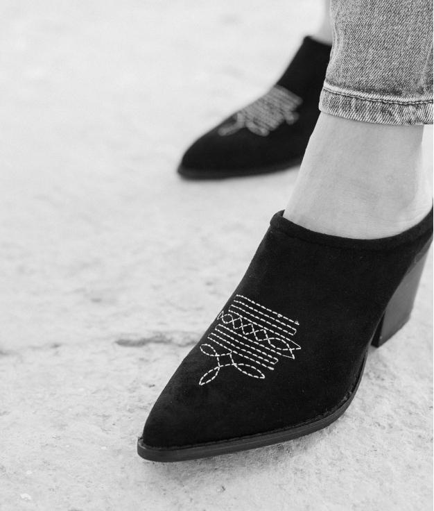 Zapato Mule Ulana - Noir