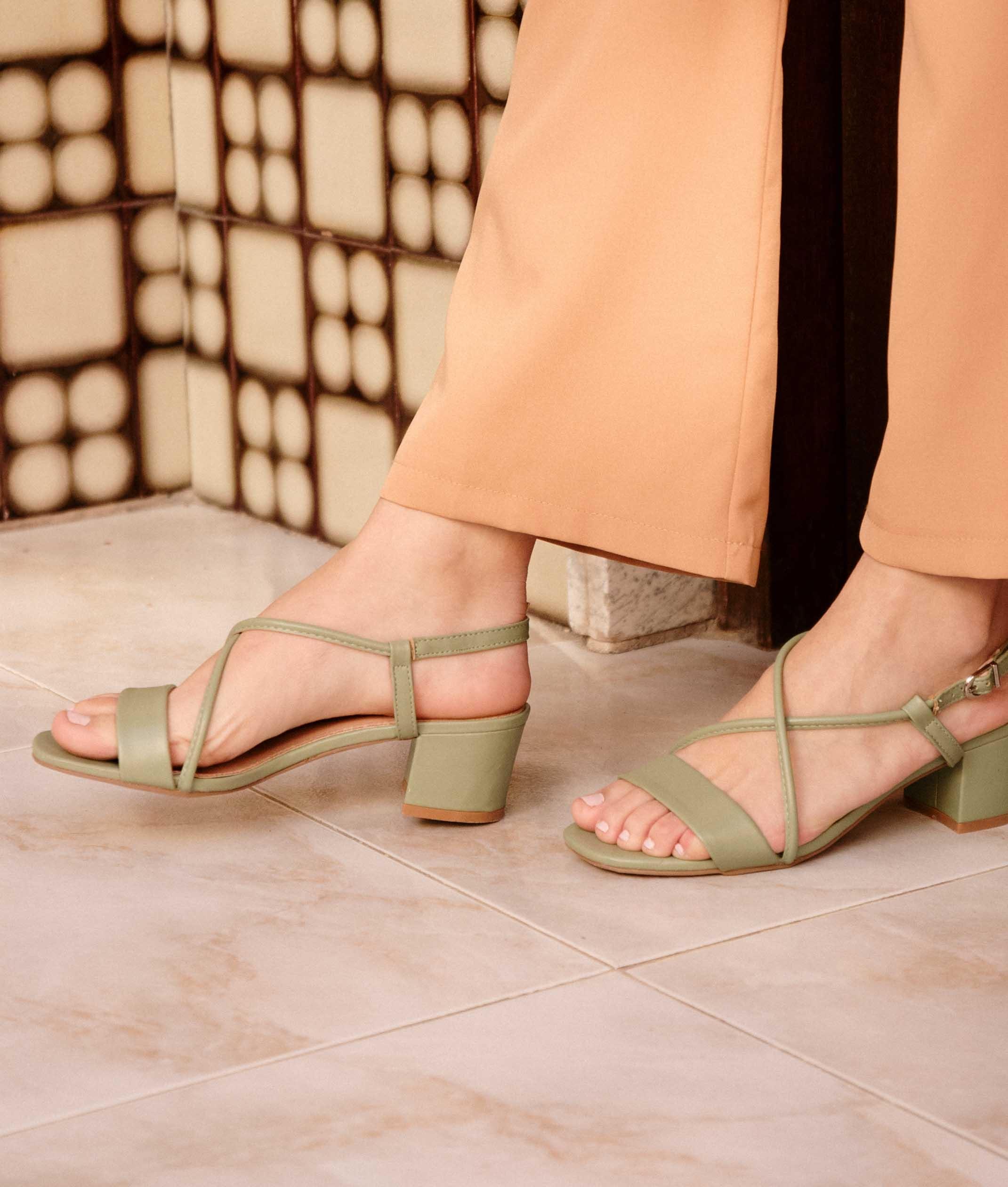 Sandália de Salto Preza - Verde