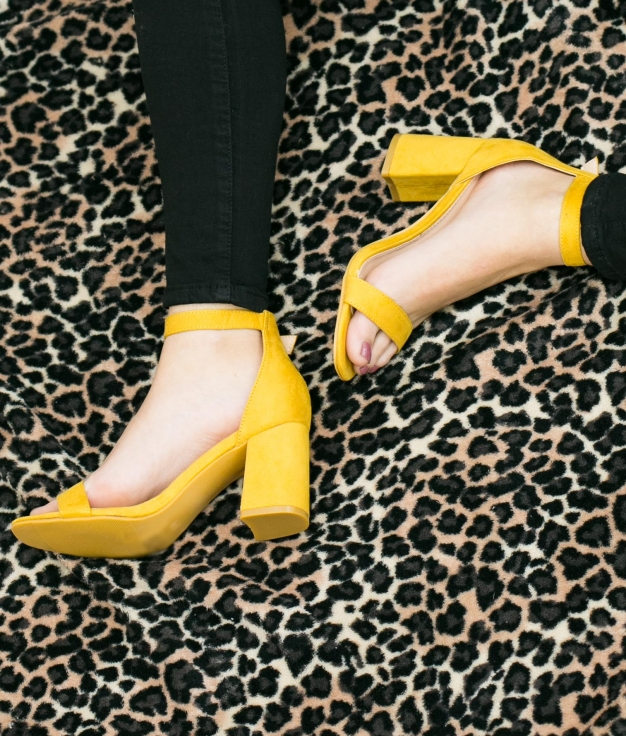 Sandália de Salto Murey - Amarelo