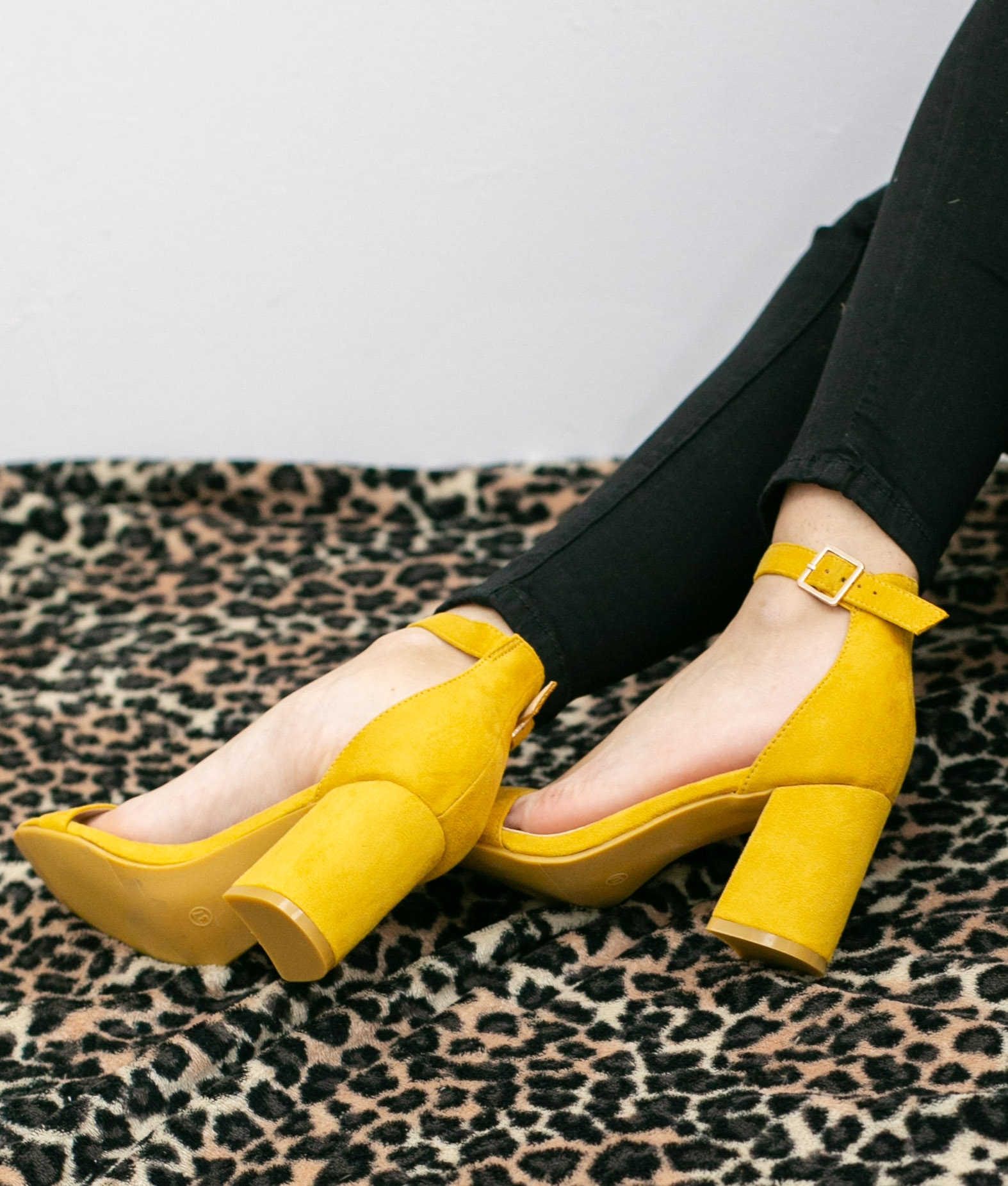 Sandália de Salto Dreal - Amarelo - Pianno 39