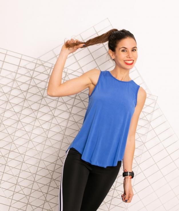 T-shirt Mahi - Bleu Klein