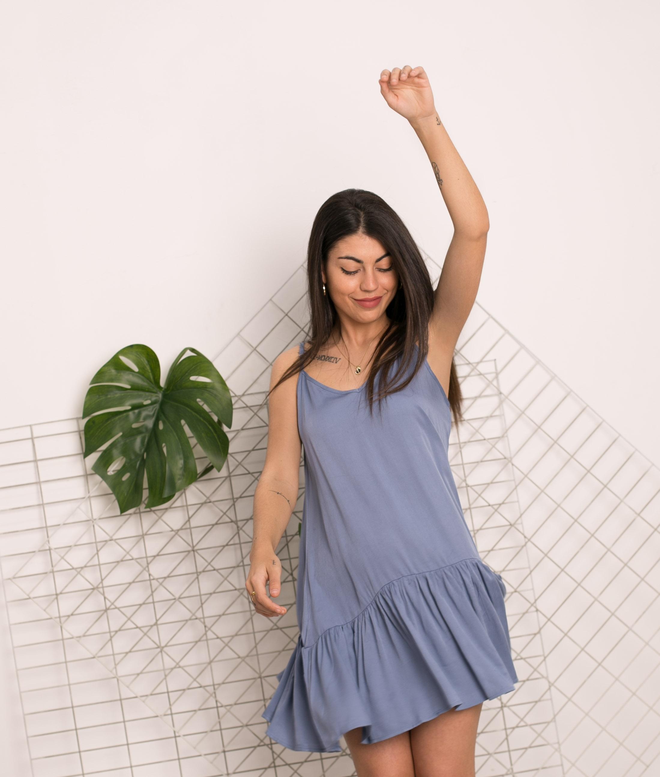 Vestido Bernera - Azul