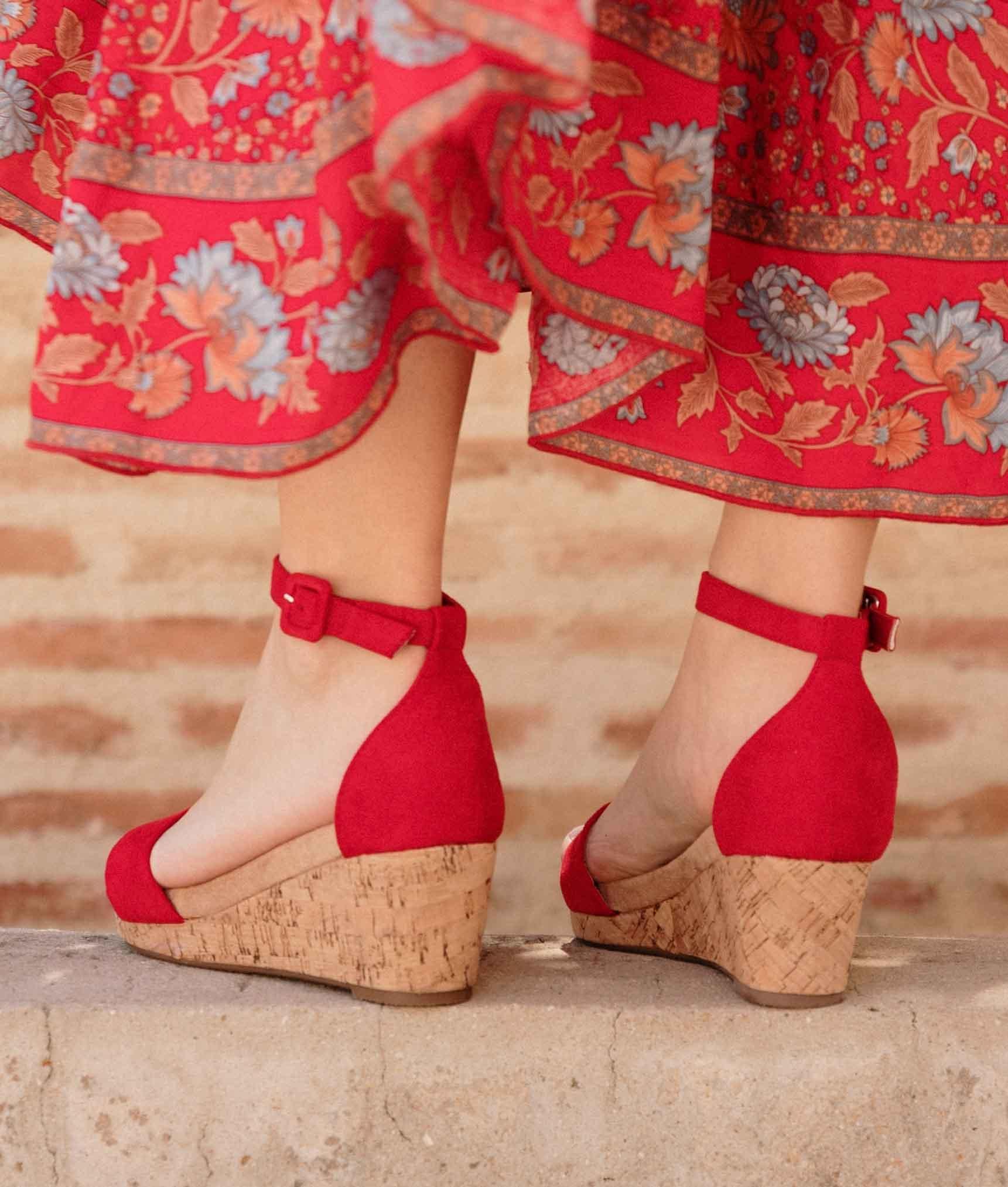 Wedge Heel Venca - Red