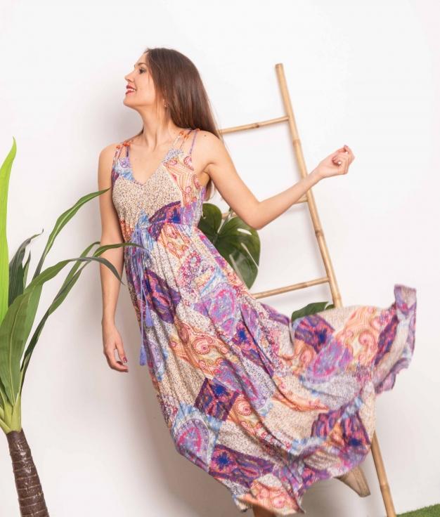 Vestido Rina - Multicolorido