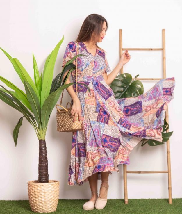 Vestido Yumeko - Multicolore