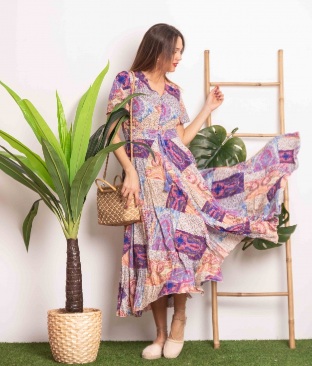 Vestido Yumeko - Multicolorido