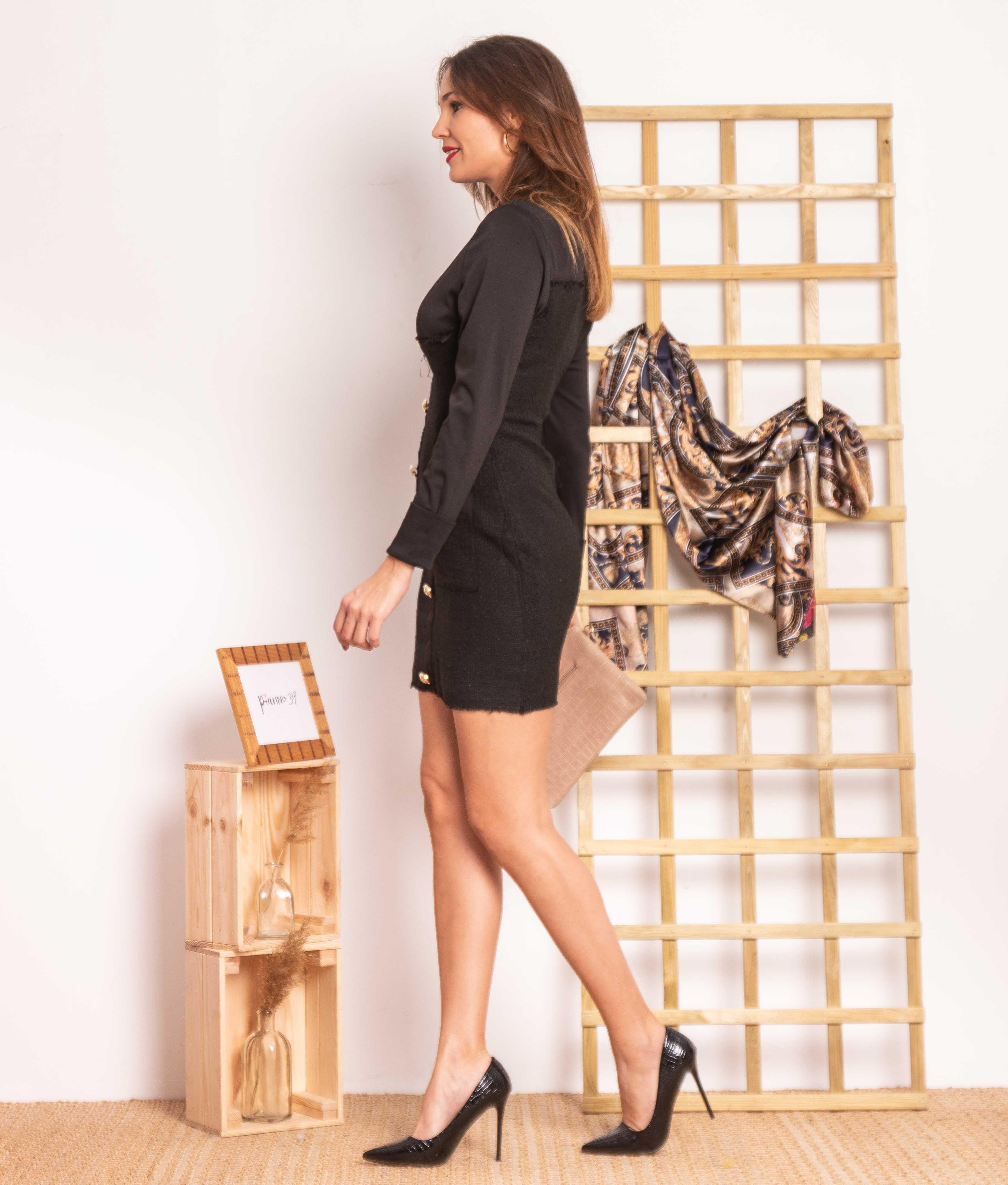 Vestido Duarenes - Negro