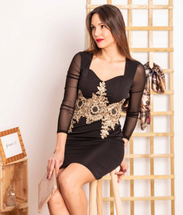 Vestido Soluna - Preto
