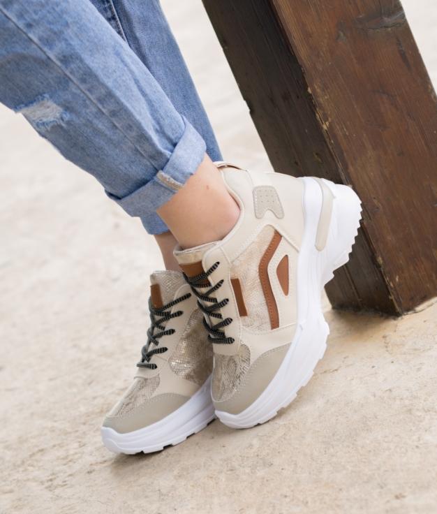 Sneakers Tranes - Bege