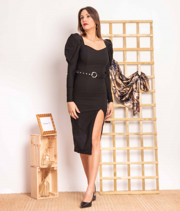 Vestido Hulas - Negro
