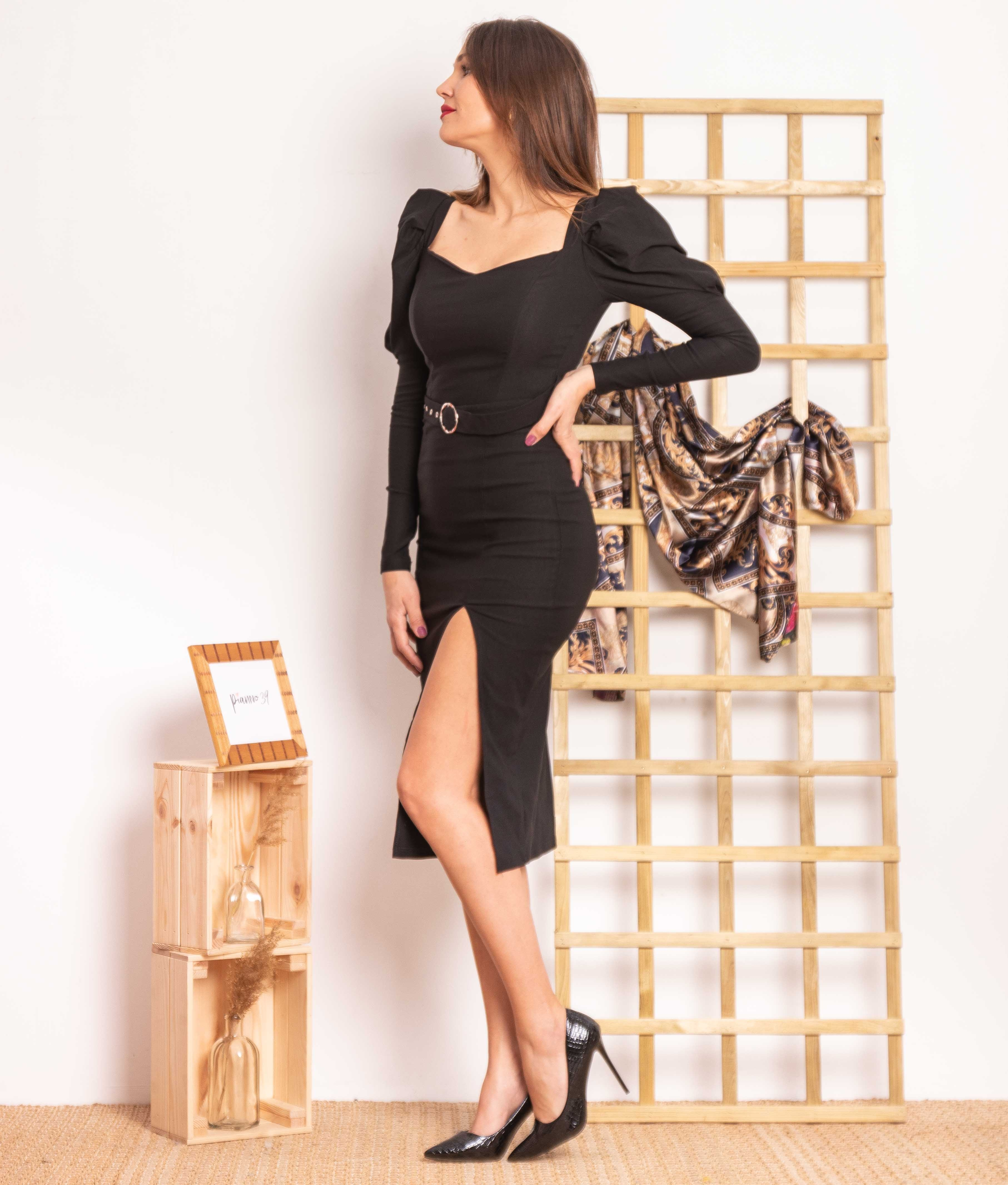 Vestido Hulas - Noir