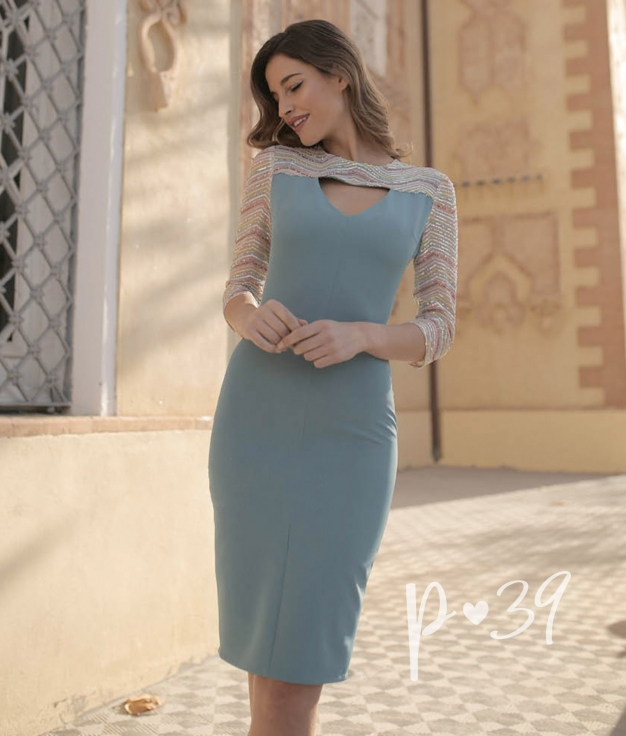 Vestido Danbyl - Azul