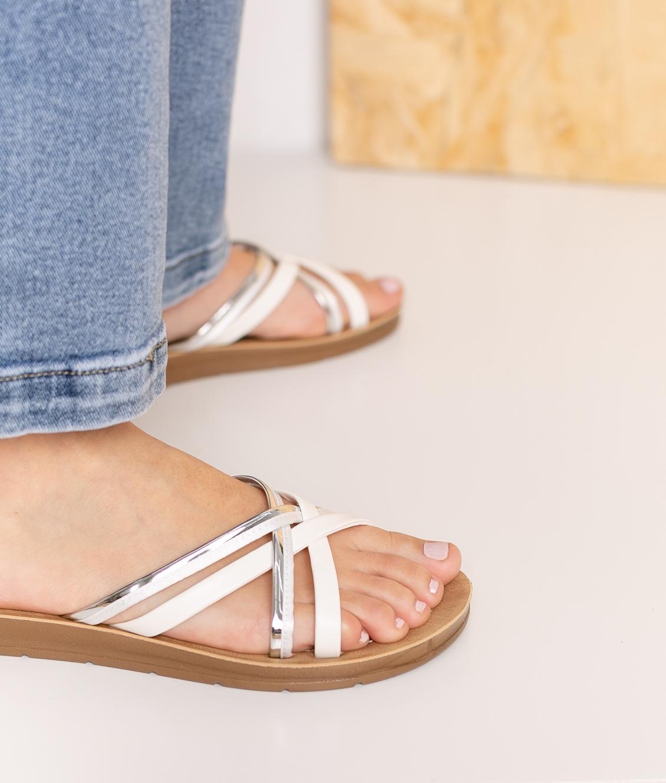 Flat Sandal Tobel - White