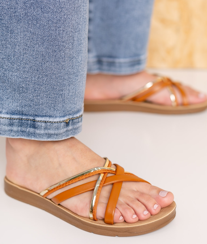 Flat Sandal Tobel - Camel