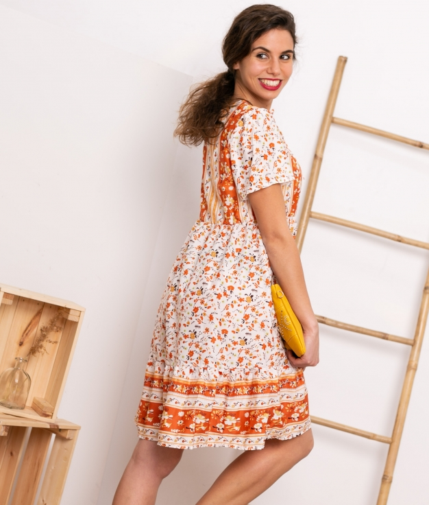Vestido Bondel - Naranja