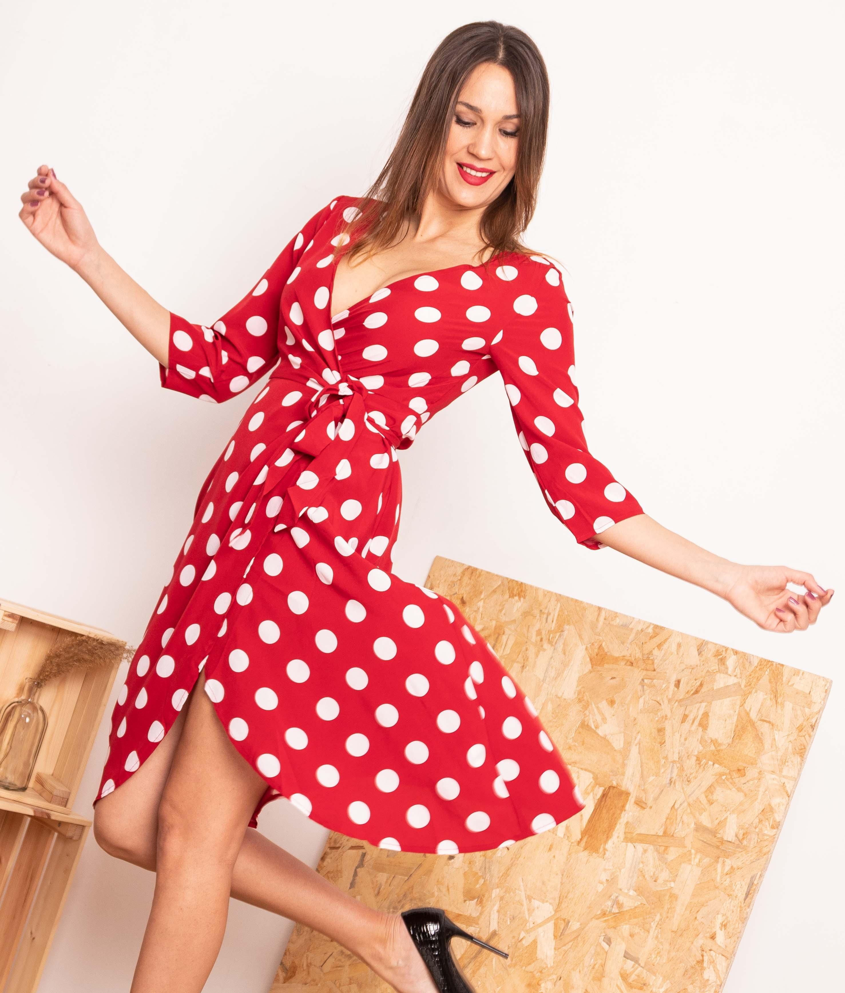 Vestido Pistel - Rosso