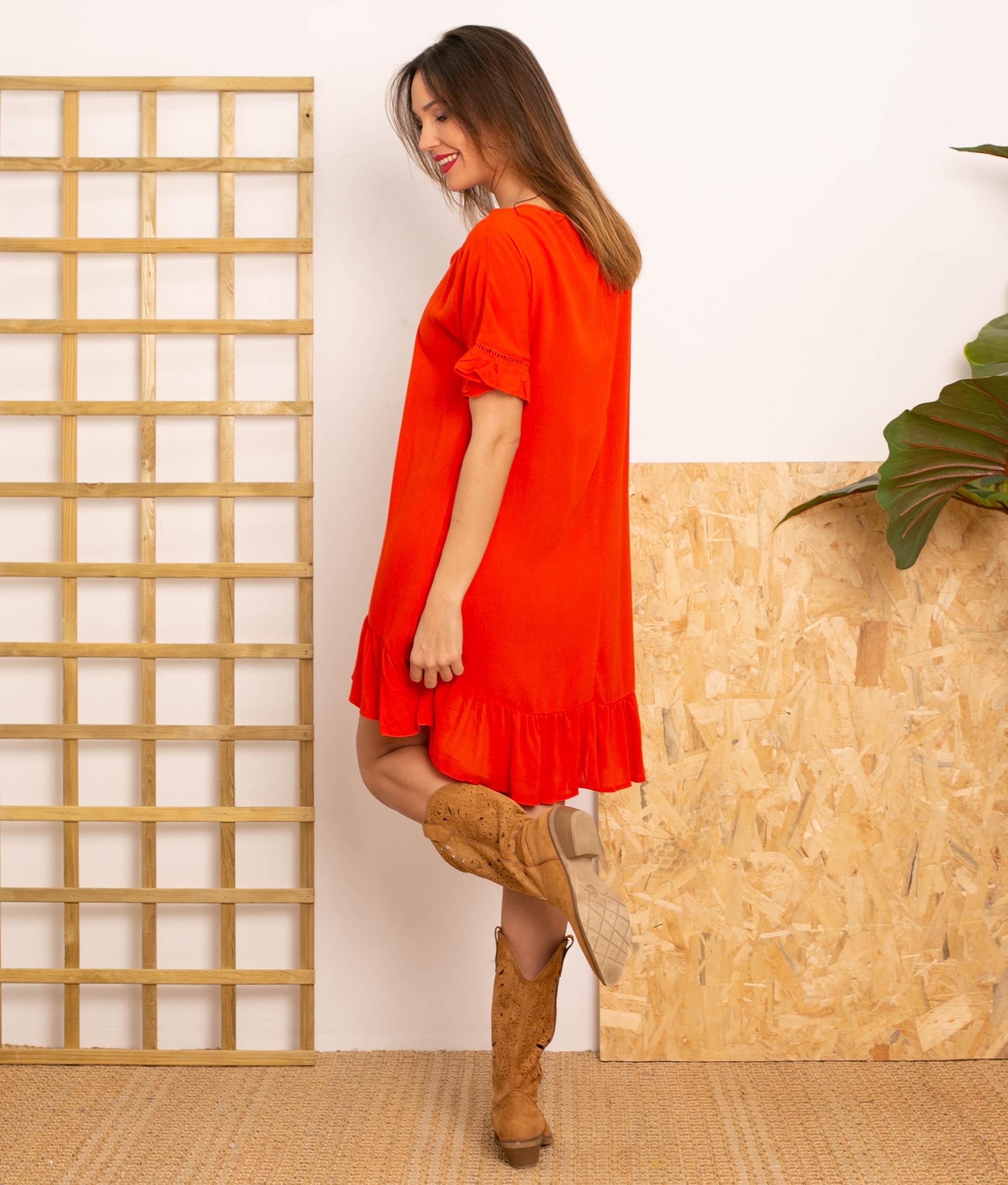 Vestido Lufy - Rosso
