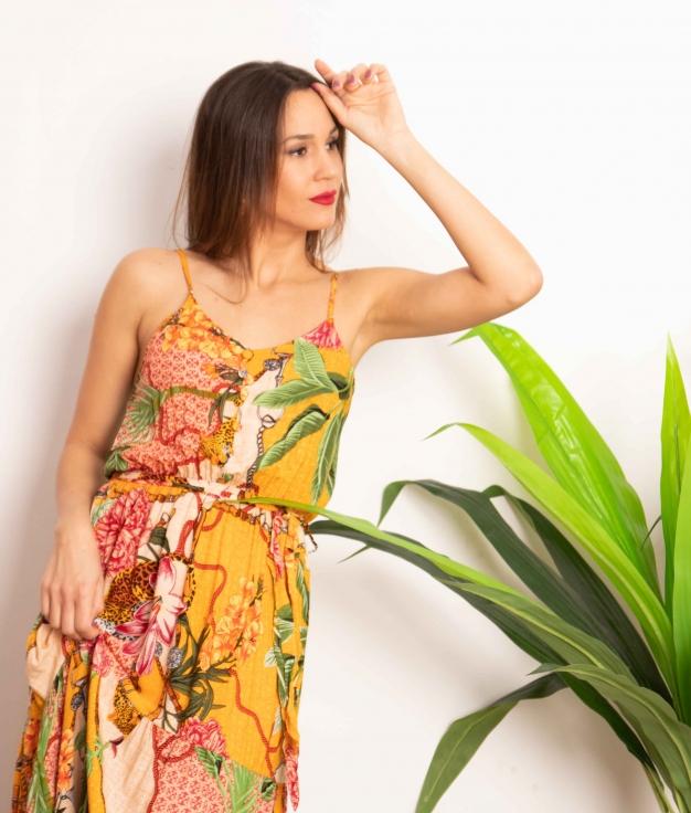 Vestido Yimi - Mostaza