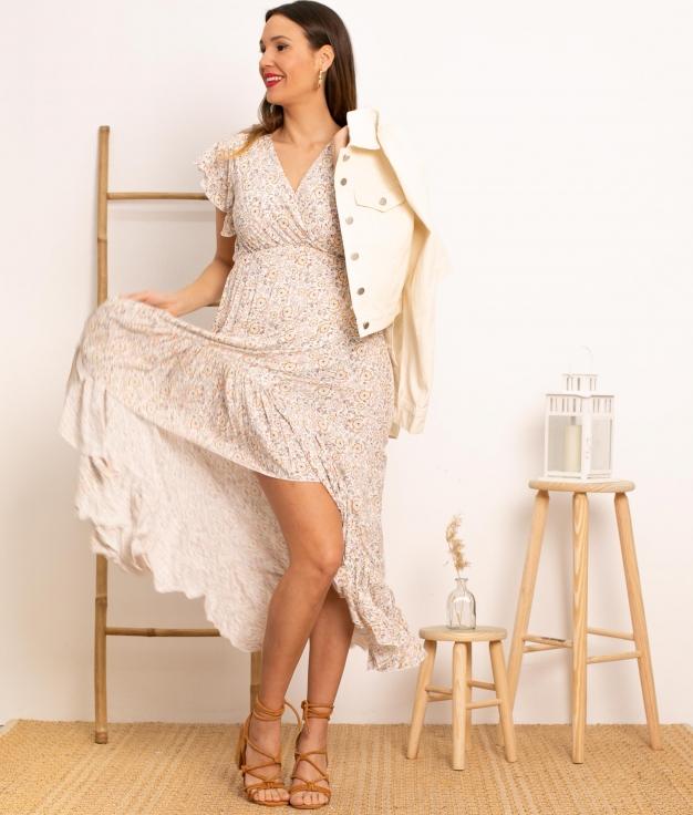 Vestido Kaito - Blanc