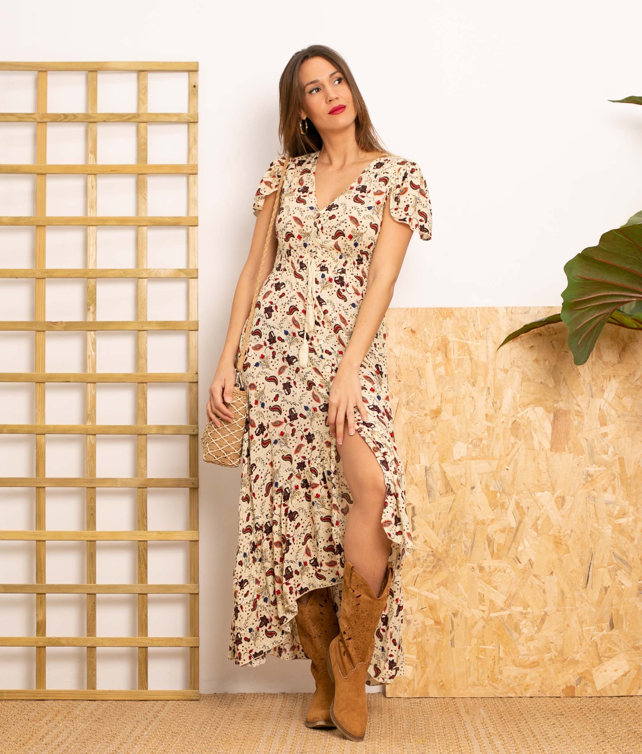 Dress Novi - Apricot