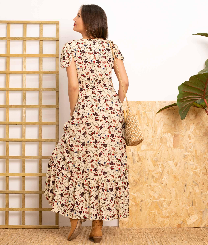 Vestido Novi - Apricot