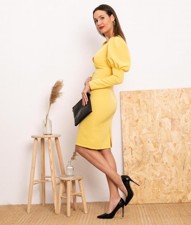 Vestido Bobety - Amarillo