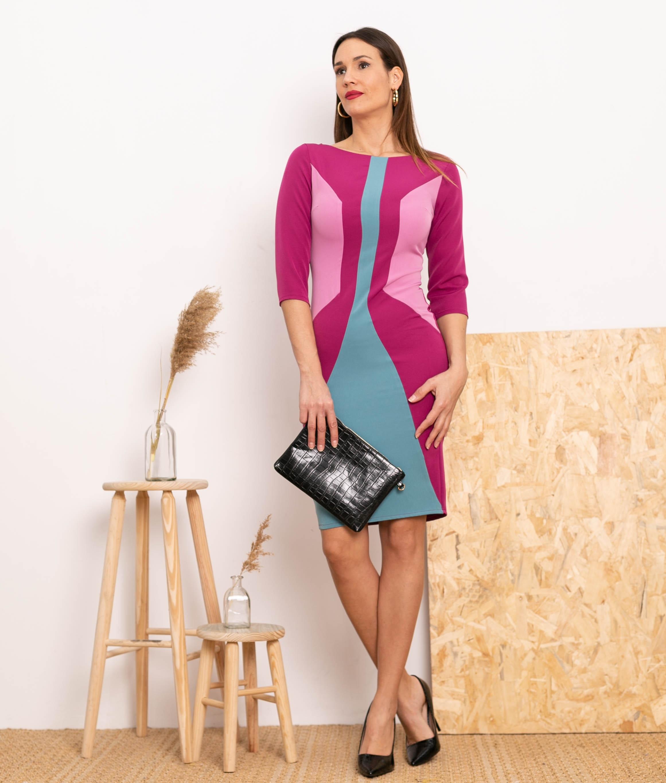 Vestido Luly - Bougainvillier